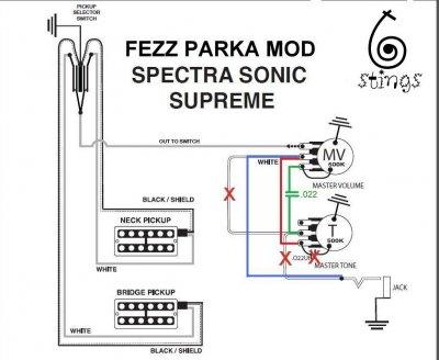 4 wire humbucker wiring diagram fezz parka ted green 50 s mod for gretsch  gretsch talk  fezz parka ted green 50 s mod for gretsch  gretsch talk