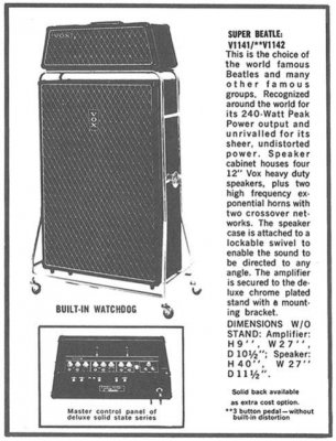 how weak were the beatles amp systems page 2 gretsch talk forum. Black Bedroom Furniture Sets. Home Design Ideas