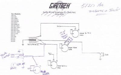 Gretsch Wiring Schematics on gretsch tennessean wiring-diagram, gretsch country gentleman wiring, gretsch synchromatic wiring-diagram, gretsch electromatic wiring, gretsch 6131 wiring, gretsch 6119 wiring, gretsch g5120 pickups wiring, gretsch wiring switch for mud, gretsch pickup wiring diagram, gretsch stump-o-matic wiring-diagram,