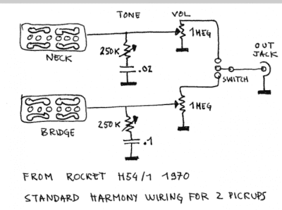 silvertone harmony h wiring gretsch talk forum silvertone harmony h64 wiring