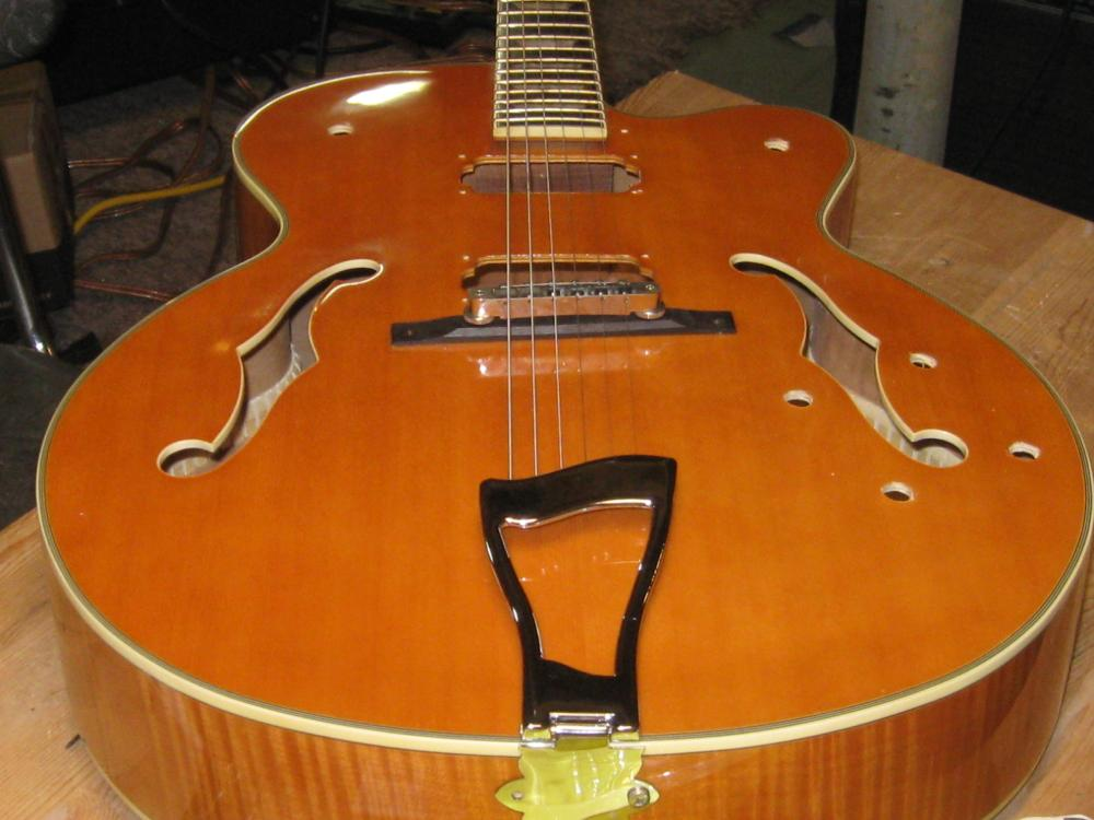 Excellent Hamer Jazz Guitar Ready For A Set Of Dearmond 2000 Pickups A Bigsby Wiring Cloud Hisonuggs Outletorg
