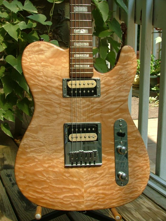 Quilt maple Tele, hollow mahogany body with forearm and